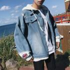 Loose Hooded Denim Jacket