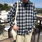 Plaid Drawstring Shirt