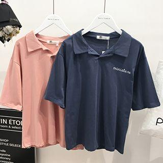 Embroidered Short Sleeve Polo Shirt