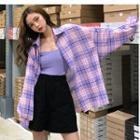 Camisole Top / Plaid Shirt