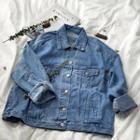 Washed Long-sleeve Denim Jacket