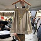 High-waist Wide-leg Dress Shorts With Chain Belt