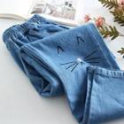 Harem Embroidered Jeans