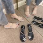Rhinestone Star Block-heel Sandals