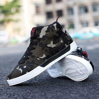 Camo High-top Sneakers