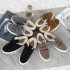Fleece-lined Adhesive Strap Sneakers