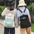 Applique Convertible Canvas Backpack