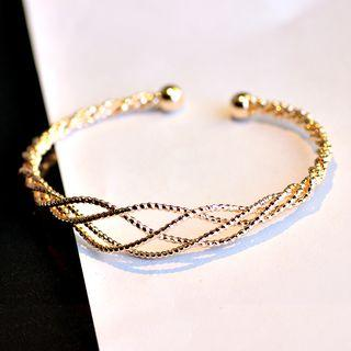 Ribbed Layered Open Bangle