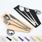Stainless Steel Chopsticks / Fork / Knife / Spoon / Fabric Pouch / Set