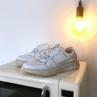 Retro Faux Leather Sneakers