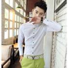 Polka Dot Long-sleeve Shirt
