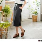 Drawcord Pencil Skirt