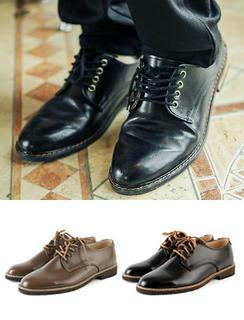 Faux-leather Lace-up Shoes
