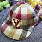 Embroidered Check Baseball Cap