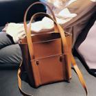 Plain Faux Leather Hand Bag