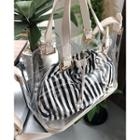 Transparent Tote With Stripe Pouch