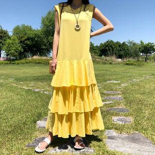 Sleeveless Maxi Tiered Dress