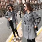 Buttoned Belted Trench Coat