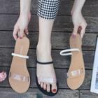 Clear Band Flat Slippers