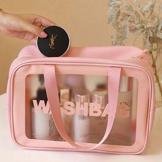 Lettering Transparent Makeup Bag