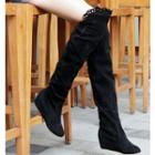 Cutout-trim Tall Boots