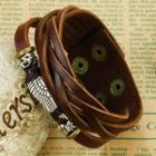 Wing Layered Leather Bracelet