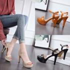 Platform Stiletto-heel Slingback Sandals