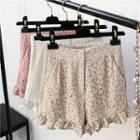 Frilled Lace Shorts