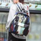 Printed Lightweight Backpack Bag As Shown In Figure - 19 Inch