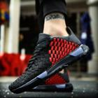 Color Block Woven Sneakers