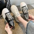 Faux-leather Beaded Sneakers