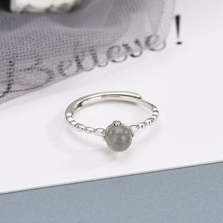925 Sterling Silver Moonstone Ring Rs449 - Platinum - One Size