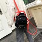 Studded Detail Velvet Backpack