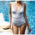 Perforated Patterned Swimsuit