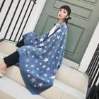 Star Patterned Winter Scarf