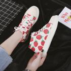 Printed High Top Canvas Sneakers