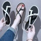 Toe Loop Buckled Sandals