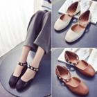 Pearl Ankle Strap Flats