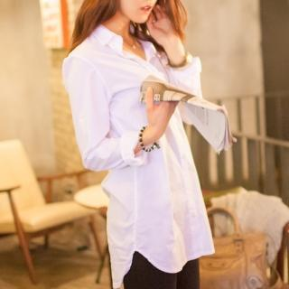 Tab-sleeve Long Shirt