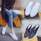 Lace Panel Platform Sandals