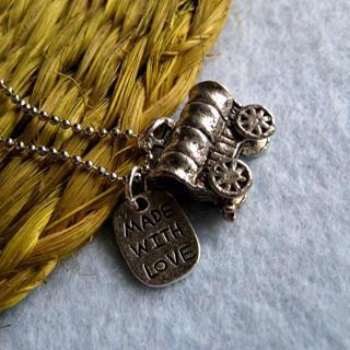 Little Car Silver Necklace