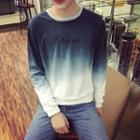 Embroidered Gradient Long-sleeve T-shirt