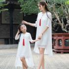Family Matching Dipback Elbow-sleeve Hanfu Dress