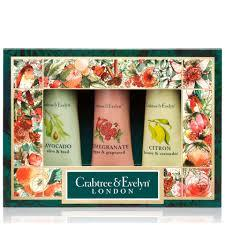 Crabtree & Evelyn - Botanicals Hand Therapy Sampler Set: Pomegranate + Citron + Avocado 3 Pcs X 25g