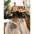 Tasseled Embroidered Peasant Blouse One Size