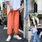 Plain Drawstring Jogger Harem Pants