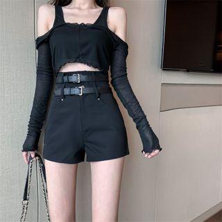 Plain Shorts / Belt / Set