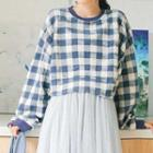 Plaid Cropped Pullover