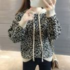 Leopard Print Hooded Sweater