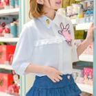 Rabbit Elbow-sleeve Top